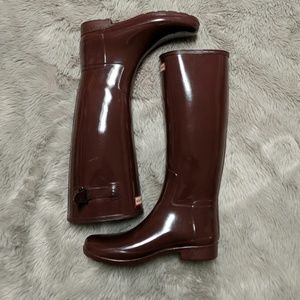 Hunter original adjustable gloss rain boot